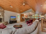 Angora Mountain Lodge  - Open Living Room