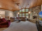 Angora Mountain Lodge  - Living Room Seating, Fireplace