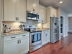 Whip up gourmet feasts using new stainless steel appliances.