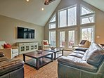 A huge open-concept family room invites you inside.