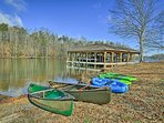 Take out the provided kayaks for leisure hours on the water.