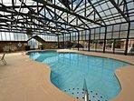 Hidden Springs Resort Indoor Swimming Pool - Plenty of Seating and Outdoor Sun Deck