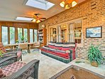 The 2,600-square-foot home has a beautiful interior and a private pool outside.