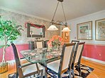 Share your family feasts in the formal dining room.