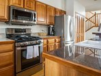 Create amazing meals in this fully equipped kitchen.