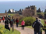 Dunnottar Castle is a nice trip further up the east coast