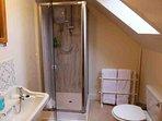 The en-suite shower room to Room no 5