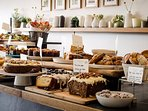 The Larder table for your breakfast and lunch