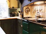 The kitchen with a beautiful traditional AGA