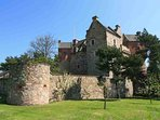 The castle is offered as a stunning holiday home