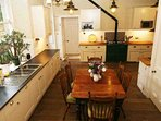 The kitchen is well equipped to cook for large numbers