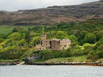 Dunvegan Castle can be seen from the house