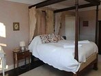 Bedroom no 3 has a four poster bed