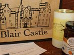 The welcome basket of Blair Castle goodies