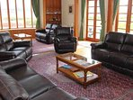 There is plenty of seating for all of your group in the sitting room