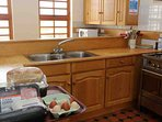 The kitchen is well equipped for a large self-catering group