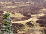 This cairn is located up the hill road from the lodge
