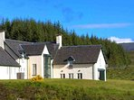 The holiday lodge enjoys a spectacular remote Highland setting