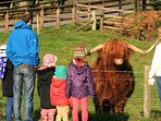 Meeting the locals in the village of Blair Atholl