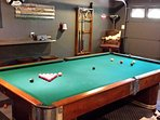 10' X 5' Snooker table in the game-room.