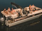 24' Sun Catcher G3 Pontoon with 115 Hp Outboard - holds 12 people.