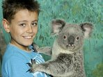 Sanctuary is one of the few places where you can hold a koala for a photo