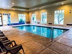 Indoor pool allows for swimming fun all year round, in all kinds