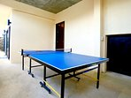 Covered area, ideal for playing table tennis