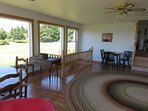 Dining area of living room