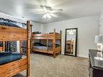 Big Bedroom 3 with 2 Bunk Beds (Sleeps 4)