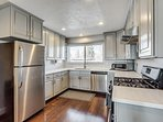 Beautiful Remodeled Kitchen with Granite Countertops and Stainless steel appliances