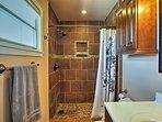 Shower off in the private en-suite master bathroom.
