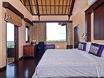 Master suite and door to balcony