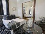 Create additional sleeping space with the cozy sleeper sofa.