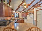 Prepare home-cooked meals with ease in this fully equipped kitchen.