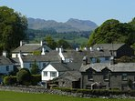 Near Sawrey with the Old Man of Coniston behind