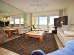 Living Room Islander Beach Condo Rentals, Okaloosa Island