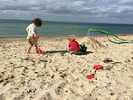 Yarmouth beach for fab day trips - no car needed