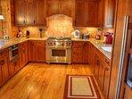 Chef's Kitchen w/SubZero Fridge, Wolf Gas Stove
