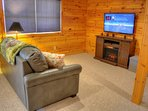 Sleeper Sofa, Electric Fireplace, Smart TV & PS4