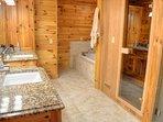 Master En Suite Bathroom with Built-in Sauna
