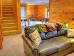 Lower Level Family Room with Sleeper Sofa