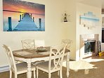 Dining Room Table – Room for 4-6 over looking the gorgeous beach and ocean.