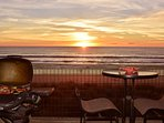 BBQ at Sunset - Dining al fresco at it's best, especially with an ocean sunset.
