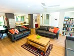 Spacious clean open plan living.  Stylish new furniture