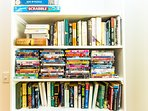 Books, games & DVD library