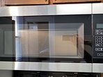 HUGE stainless steel cabinet-mounted microwave