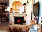 Decorative fire place.