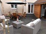 terrasse privative au gite Edelweiss