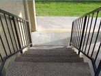 9 steps going down the condo